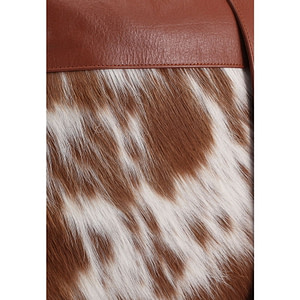 Cow Fur leather messenger bag