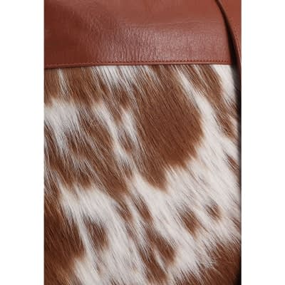 Cow Fur leather messenger bag