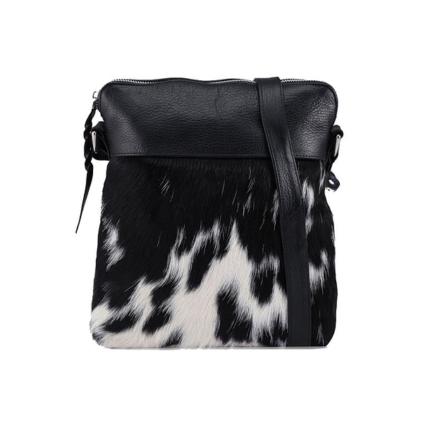 product image of cow hide leather messenger bag